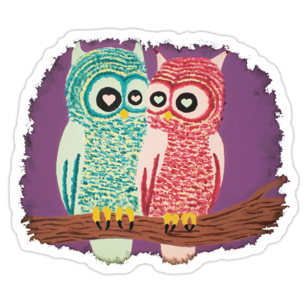 Owl Couple by Angel Szafranko