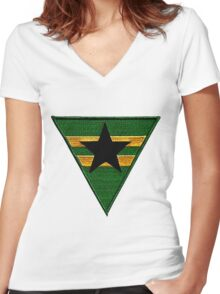 Firefly: Browncoat Logo (Patch) Women's Fitted V-Neck T-Shirt