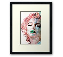Insecure , Flawed , but Beautiful . Framed Print