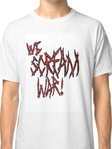 WeScreamWAR! Red Logo Classic T-Shirt