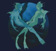 Flirtatious Aquasapiens Clothing or Sticker by taklayyankovic