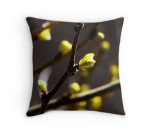 New Leaf coming to Life for Spring Throw Pillow
