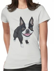 Boston Terrier Womens Fitted T-Shirt