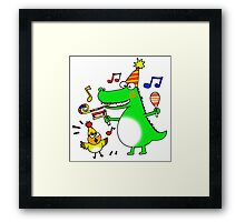 Funny party animals Framed Print