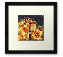 Roddy & explosions Framed Print