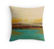 Horizon - Abstract Seascape  Throw Pillow