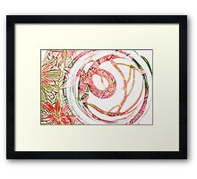 Glass Circle coloured pencil Framed Print