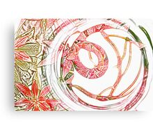 Glass Circle coloured pencil Canvas Print