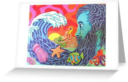 The Encompassing Waves of Poseidon's Wish for Love by JSchultz