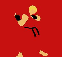 Ken - Street Fighter - Minimalist by hidden-arts
