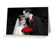 The Bride & Groom Greeting Card
