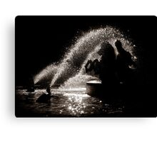 Horses fountain Canvas Print