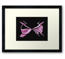 Pink Bra Framed Print