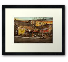 Gas Station - At the end of a day 1925 Framed Print