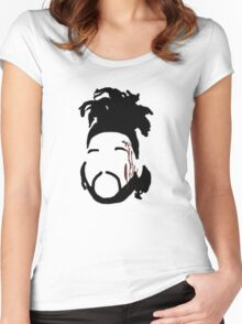 The Weeknd - The Hills Cartoon  Women's Fitted Scoop T-Shirt