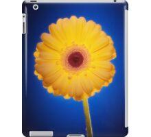 Yellow Gerbera On Blue iPad Case/Skin