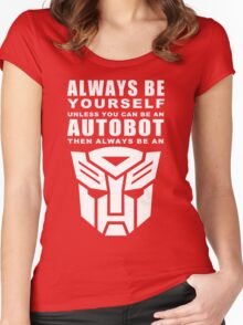 Always - Autobot Women's Fitted Scoop T-Shirt