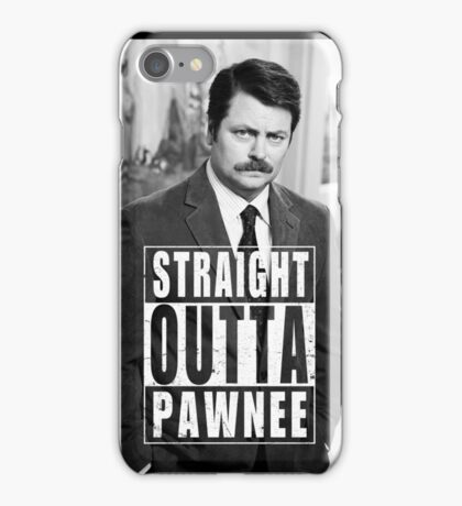 Striaght Outta Pawnee iPhone Case/Skin
