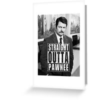 Striaght Outta Pawnee Greeting Card