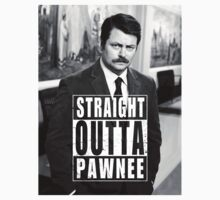 Striaght Outta Pawnee Kids Tee