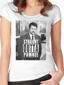 Striaght Outta Pawnee Women's Fitted Scoop T-Shirt