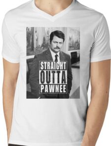 Striaght Outta Pawnee Mens V-Neck T-Shirt