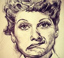 LUCILLE BALL PORTRAIT by Billy Jackson