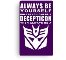 Always - Decepticon Canvas Print