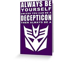 Always - Decepticon Greeting Card