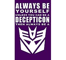 Always - Decepticon Photographic Print