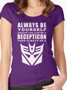 Always - Decepticon Women's Fitted Scoop T-Shirt