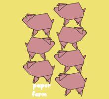 Paper farm -  pig stack Kids Clothes