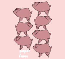 Paper farm -  pig stack Kids Tee