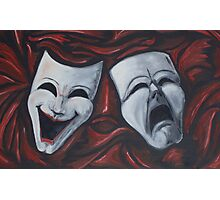 Drama Masks in Oil Photographic Print