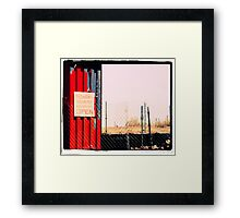 Open for Business Framed Print