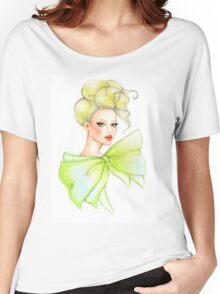 Fashion girl drawing Women's Relaxed Fit T-Shirt