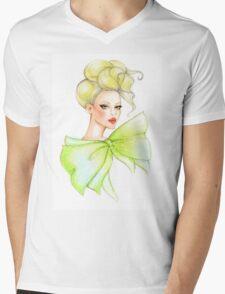 Fashion girl drawing Mens V-Neck T-Shirt