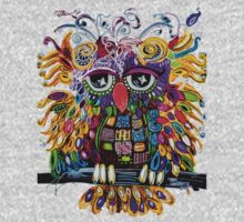 Owlsa the Colorful Owl One Piece - Short Sleeve