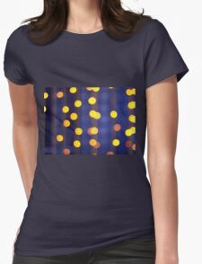Abstract image - round, yellow and red lights Womens Fitted T-Shirt