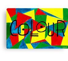 COLOUR and SHAPE  Canvas Print