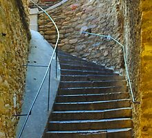 Vintage staircase in Bormes les Mimosas, FRANCE by Atanas Bozhikov NASKO