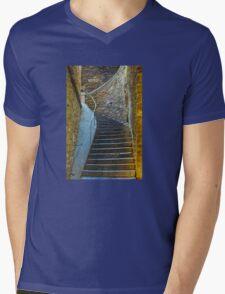 Vintage staircase in Bormes les Mimosas, FRANCE Mens V-Neck T-Shirt