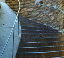 Vintage staircase in Bormes les Mimosas, FRANCE Sticker