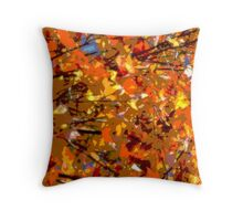 Leaves Posterized Throw Pillow