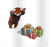 Red Panda Gets Presents Poster