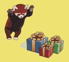Red Panda Gets Presents Kids Tee