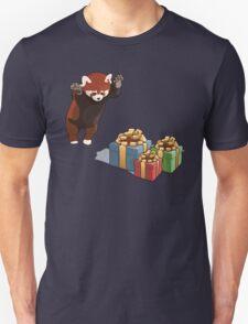 Red Panda Gets Presents Unisex T-Shirt