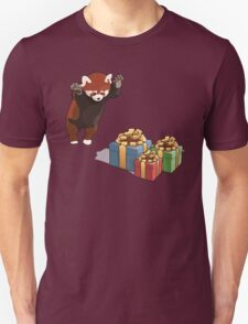 Red Panda Gets Presents Unisex T-Shirt