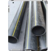Big black pipe closeup plastic large diameter iPad Case/Skin