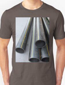 Big black pipe closeup plastic large diameter Unisex T-Shirt